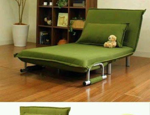 Canapea pliabila, verde