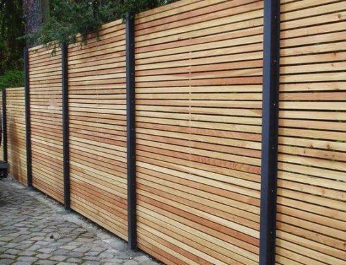 Gard modern din lemn de rasinoase