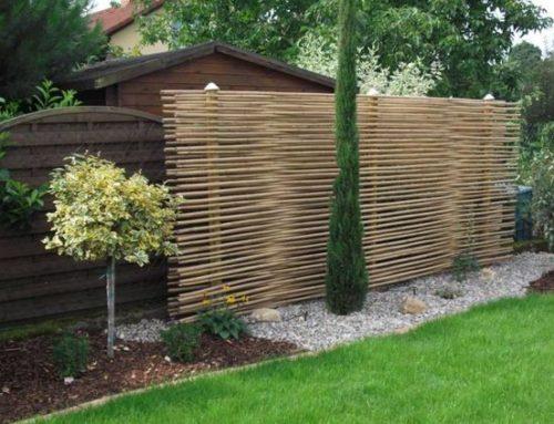 Garduri din nuiele impletite, pentru gradina