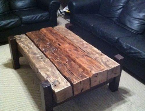 Masa pentru cafea cu patrati din lemn masiv