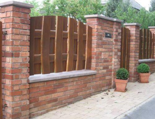 Panouri de gard din lemn, model matrice