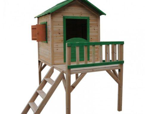 Modele casute din lemn pentru copii amplasate la inaltime
